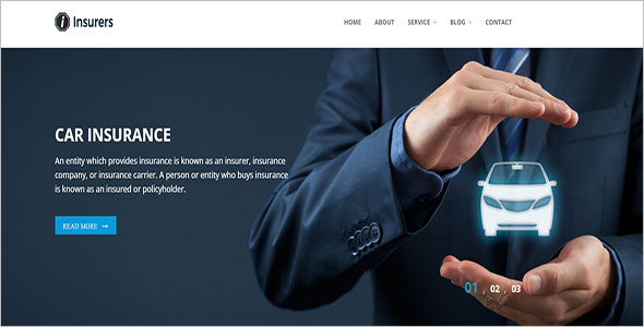 Car Insurance Landing Page Template