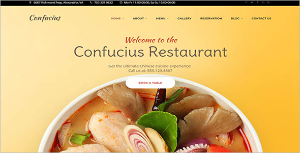 Chinese Food Blog WordPress Theme