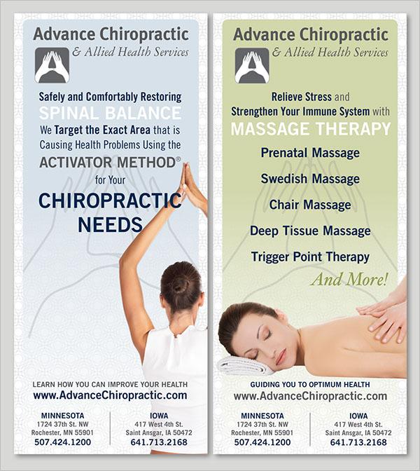 Chiropractic Brochure PSD Template