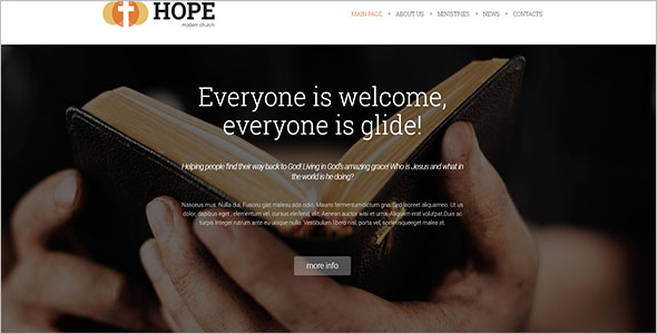 Church Joomla3.0 Template