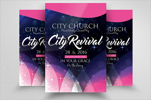 City Revival Church Flyer Template