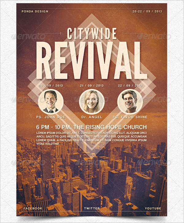 Citywide Revival Flyer Template