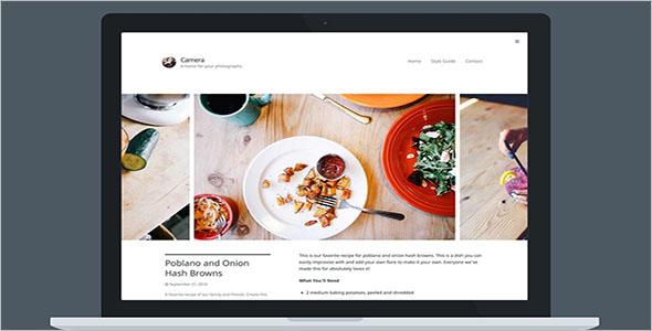 Clean Food Blog WordPress Theme