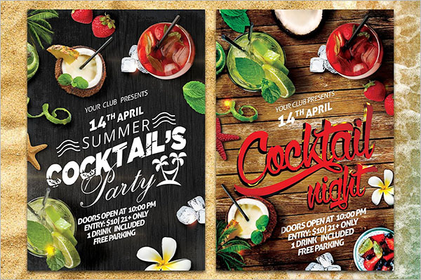 Cocktail Summer Party Flyer Design