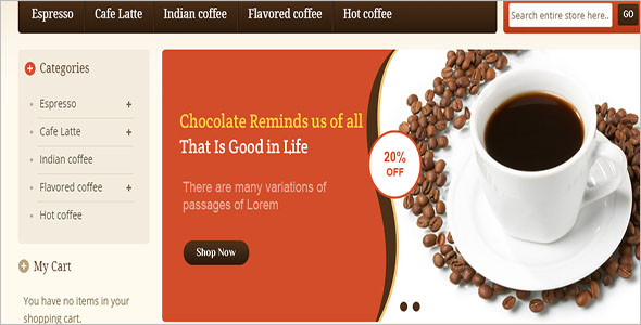 Coffee Order Magento Template