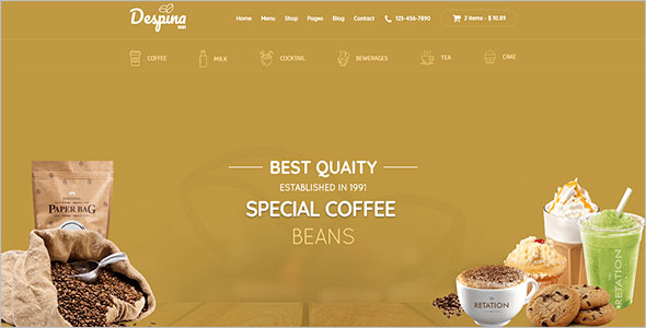 Coffee Shop Magento Template