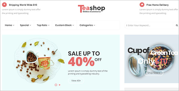 Coffee Shop eCommerce Template