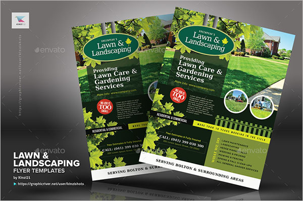 Commercial Lawn Care Flyer Template