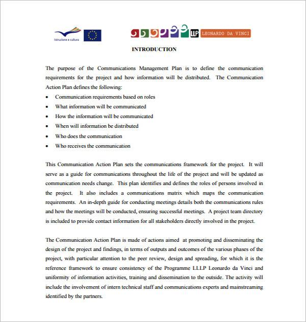Communication Plan Template PDF