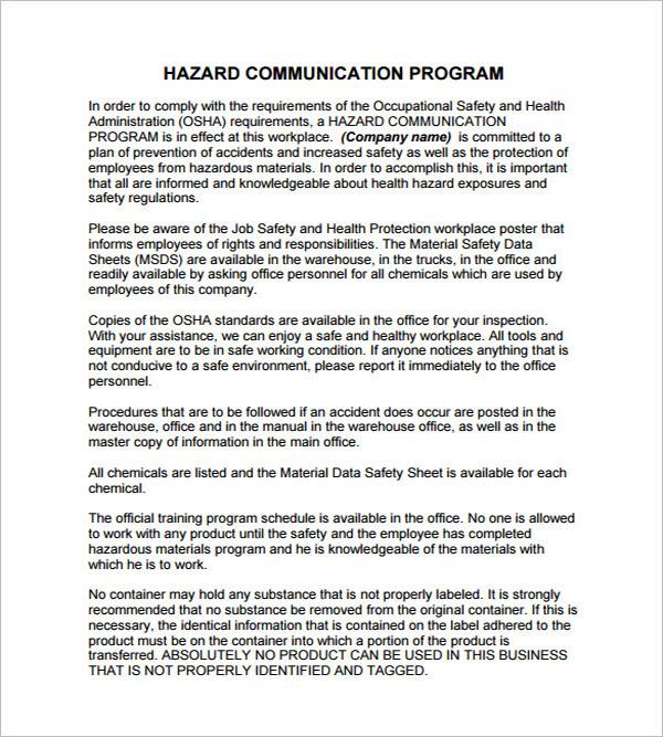Communication Program Plan Template