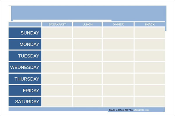Complete Meal Planning Template