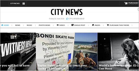 Comprehensive Newspaper WordPress Theme