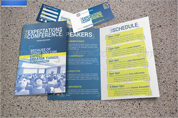 Conference Program Brochure Template