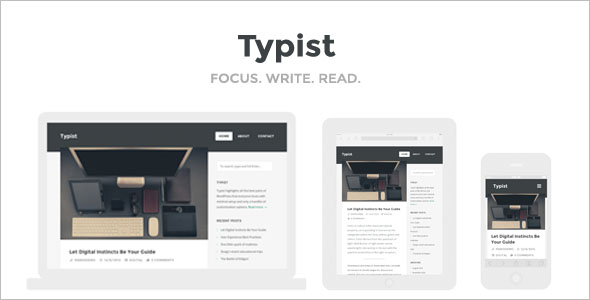 Content Writer HTML Web Theme