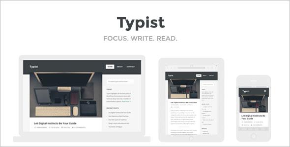 Content Writer HTML Web Theme