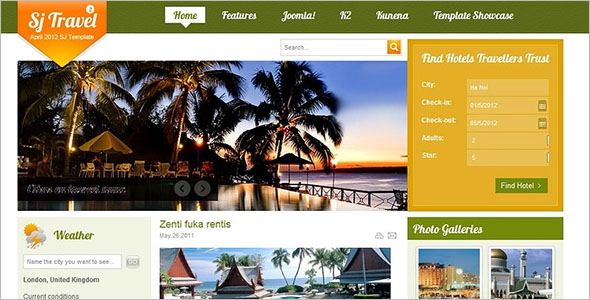 Cool Travel Booking Site Template