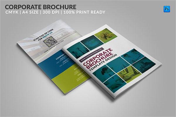Corporate Bifold Brochure Template