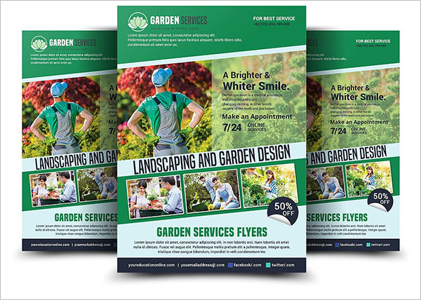 Creative Lawn Care Flyer Template