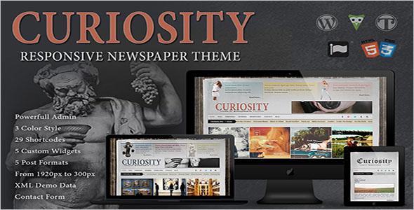 CreativeNewspaperWordPress Theme