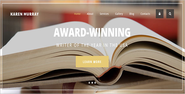 Creative Writer HTML5 Theme