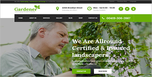 Customizable Landscaping WordPress Theme