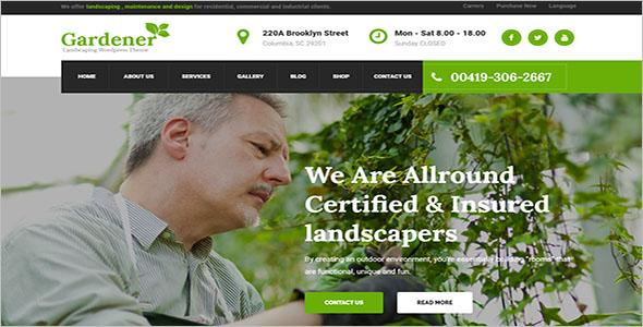 Customizable Landscaping WordPress Theme