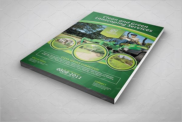 CustomizableLawn Care Flyer Design