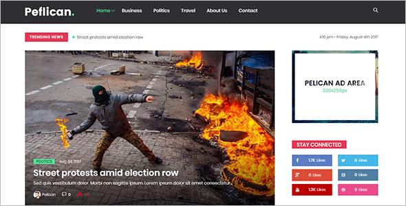 CustomizableNewspaper WordPress Theme