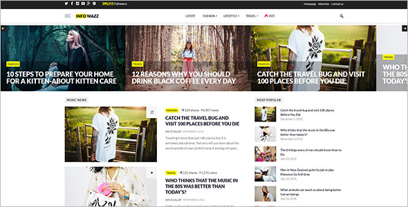 Daily Newspaper WordPress Theme