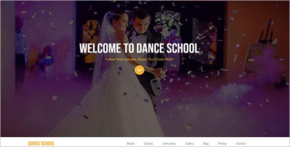 Dance School Website Template