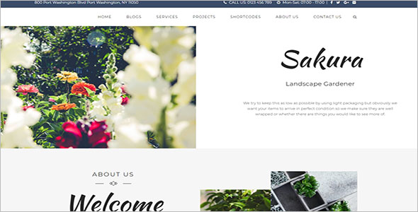 Decorative Landscaping WordPress Theme