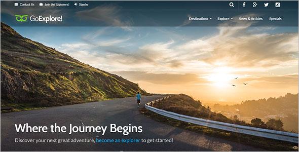 Designation Traveller Website Template