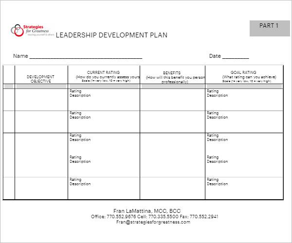 Development Plan Example