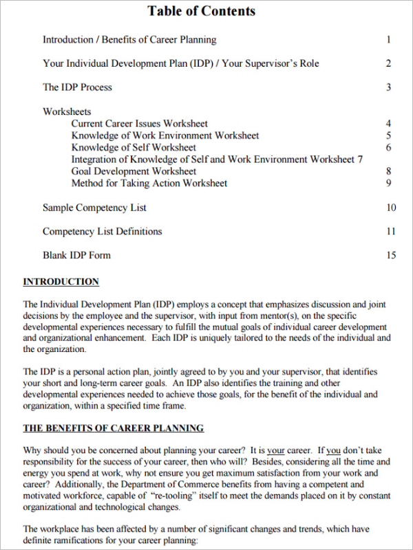 Development Plan Template PDF