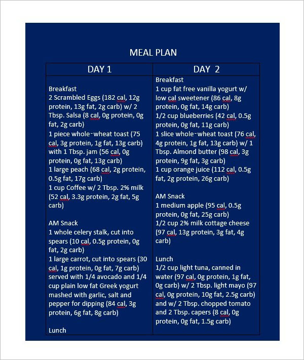 Dinner Meal Planning Template
