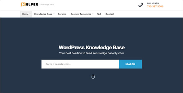 Drag & Drop Knowledge Base WordPress Theme