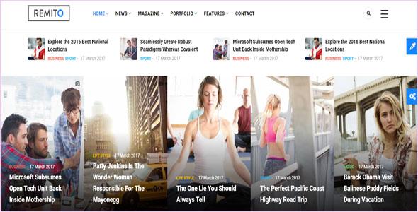 Drupal 7 News Theme