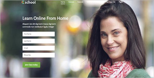 E-Marketing Landing Page Template