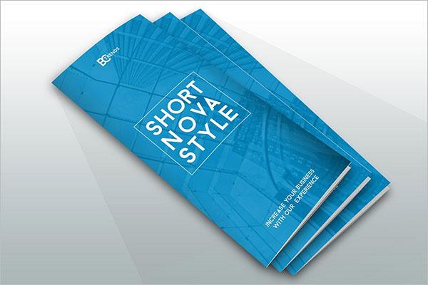 EditableHalf Fold Brochure Template