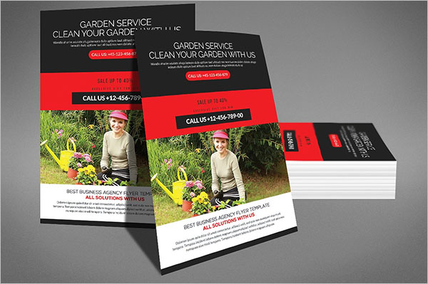 Editable Lawn Care Flyer Template