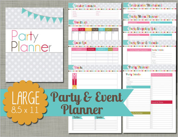 Editable Party Planning Template