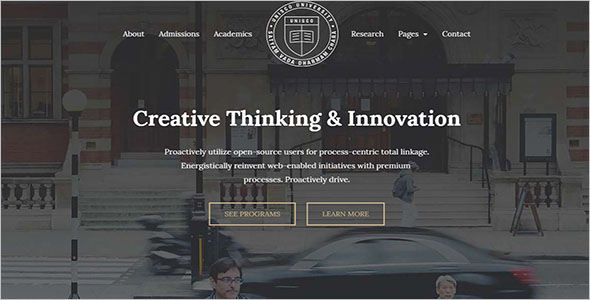 Education Website Template for School, College