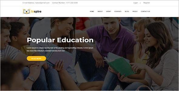 Educational School Website Template