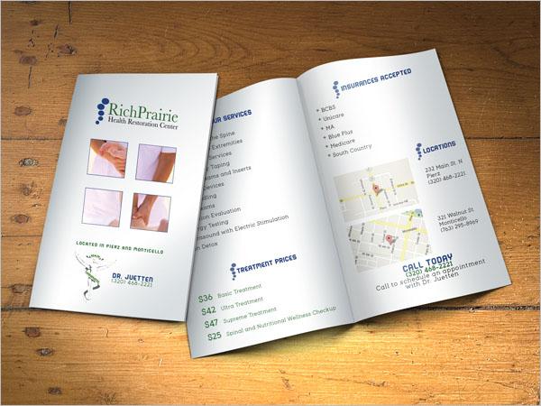 Elegant Chiropractic Brochure Template