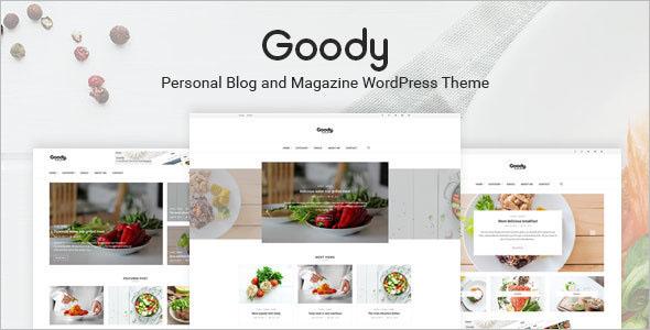 Elegant Food Blog WordPress Theme