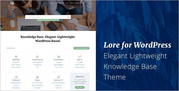 Elegant Knowledge Base WordPress Theme