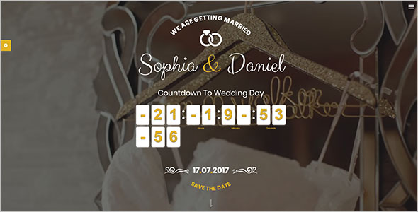 Elegant Wedding Bootstrap Theme