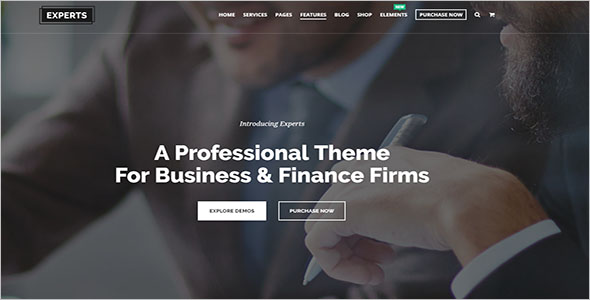 Elegant WordPress Broker Theme