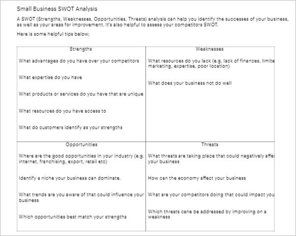 Employee SWOT Analysis Sample