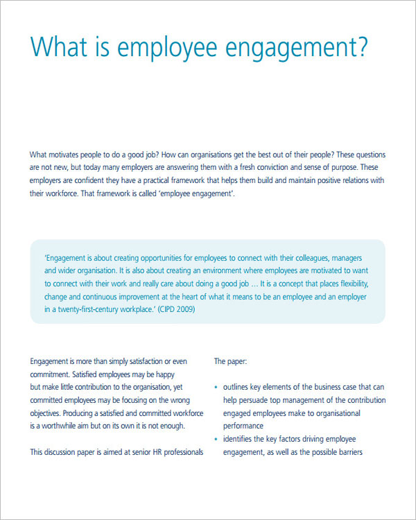 Employment Engagement Strategy Template